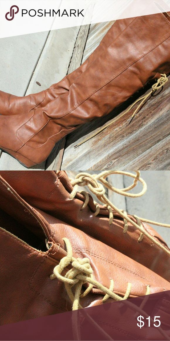 Brown boots Long brown boots, size 8 Shoes Over the Knee Boots