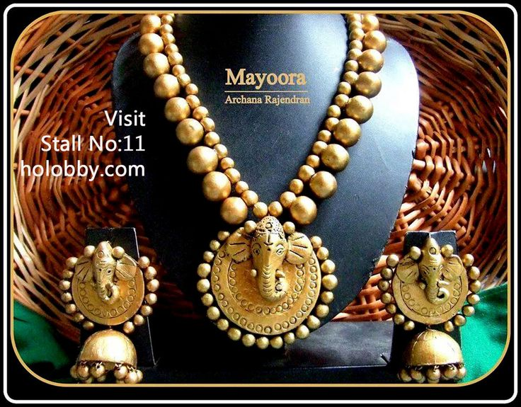 Visit Stall No.11 for Mayoora Terracotta Jewellery collections @ www.holobby.com #Art #Celebrities #Design #Hair @ Beauty #Weddings #Products #Women's Fashion #DIY & Crafts