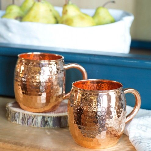 Moscow Mule Copper Cups - Set of 2 | VivaTerra