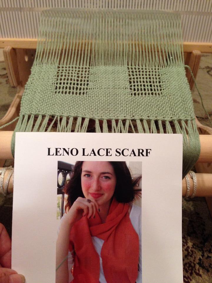 Leno lace scarf.