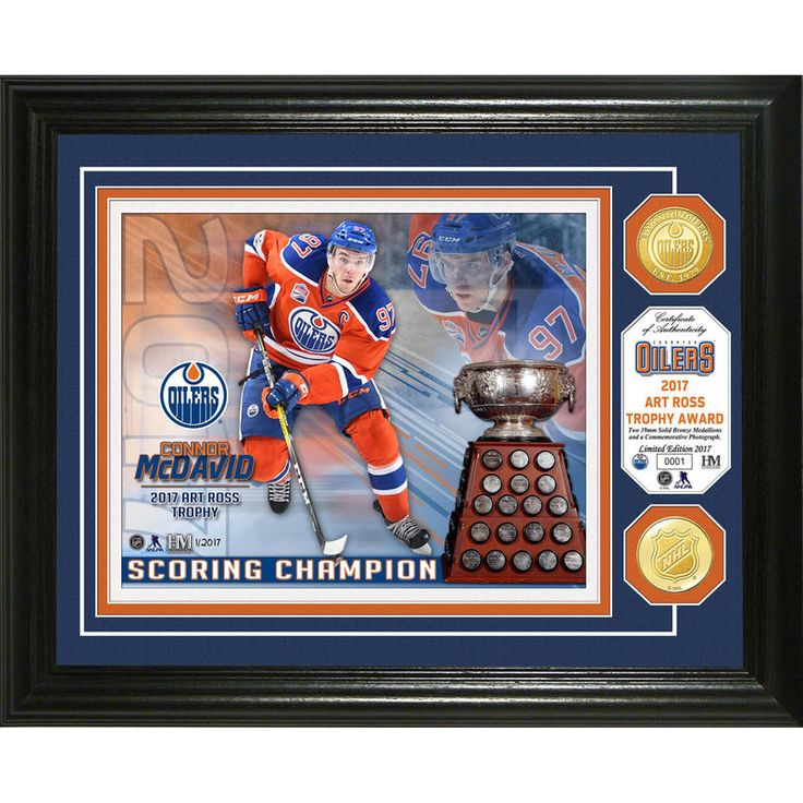Edmonton Oilers Highland Mint Connor McDavid 2017 NHL Art Ross Trophy Bronze Coin Photomint