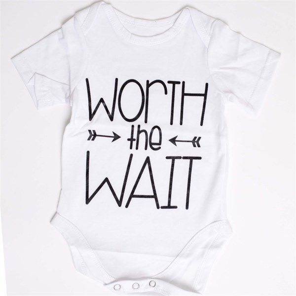 "Great baby shower gift!  ""Worth the Wait"""