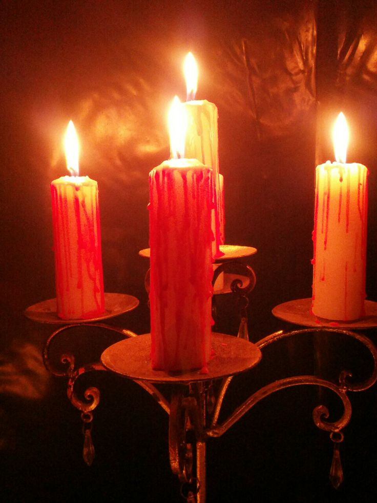 Bloodied candles
