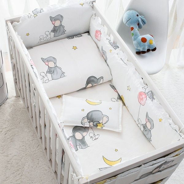 Baby Crib Bedding Set Cot Bumper, Baby Cot Bedding Accessories
