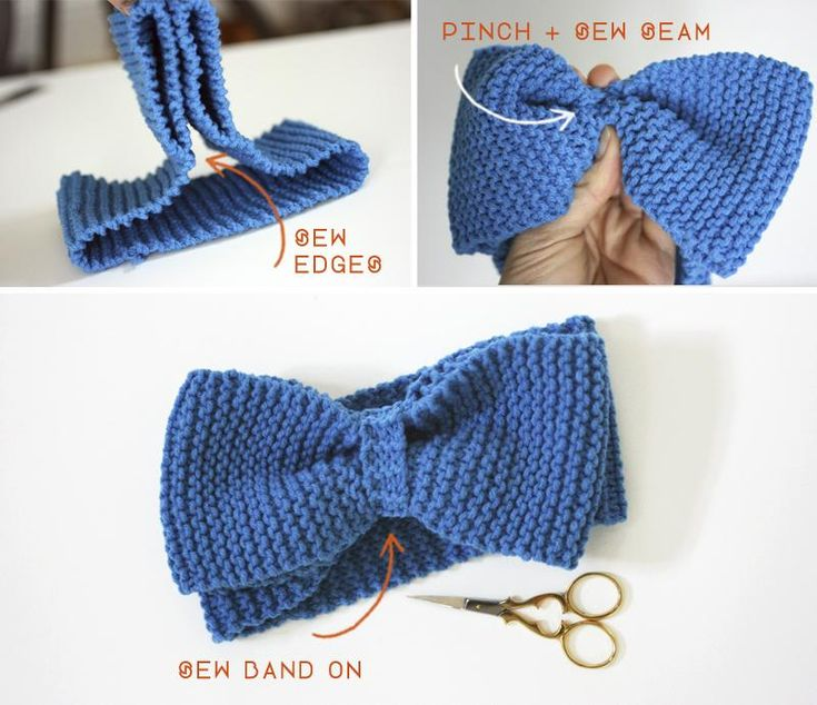 Knitting Pattern For Headband With Bow : Learn to Knit // DIY Bow Headband Headband tutorial, DIY ...