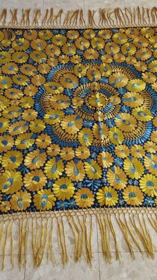 Matyo  Hungarian embroidery huge tablecloth