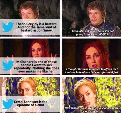 Game Of Thrones. mean tweets