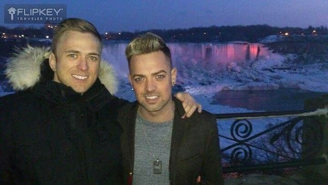 Some of our Crown Jewel 2 guests enjoying the beauty of the Falls in winter!