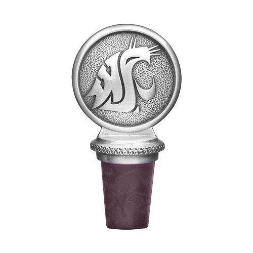 Washington State University Bottle Stopper by Heritage. $25.95. Washington State University Pewter Bottle Stopper comes with attached chain and pewter ring which slips over a bottle's neck. The cork is a strong non-staining, non-breakable burgundy synthetic cork. Also available with an Exquisite Metal Cone Stopper with two Rubber Rings which Snap into the Bottle.