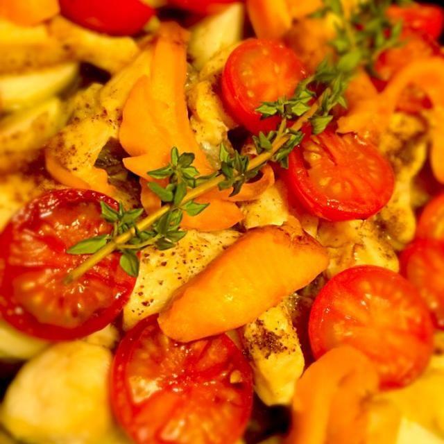 ごはんおまた( ´ ▽ ` )ノ - 28件のもぐもぐ - スモークサーモン、山芋、ササミのグリル バルサミコソース by miebo