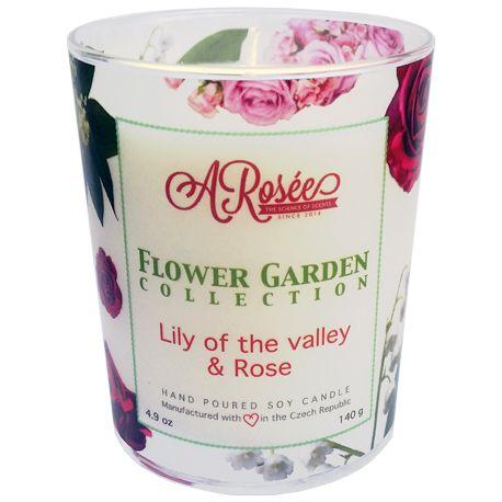 """ARosée """"Lily of the Valley and Rose"""" - vonná sojová svíčka s vůní konvalinky a růže. ARosée jsou ručně vyráběné svíčky. Vůně svíček ARosée je velmi silná. Scented soy candle ARosée Lily of the Valley and Rose Home decor Domácí dekorace"""