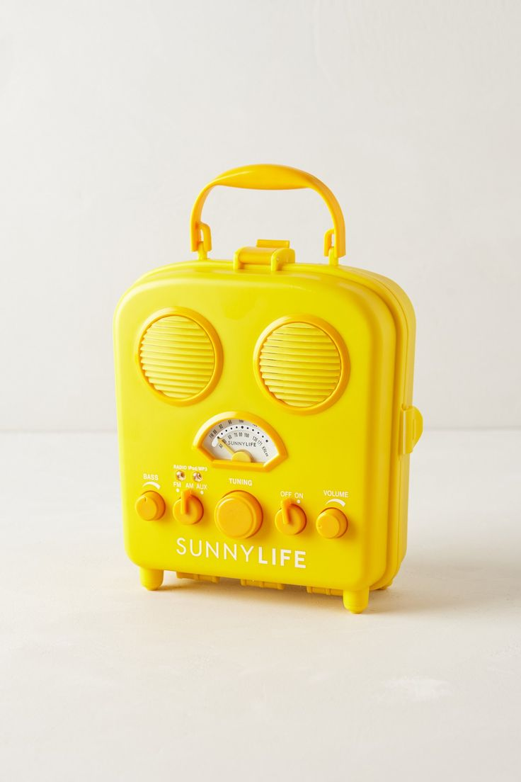 Swansea Beach Radio that hooks up to your iPod..