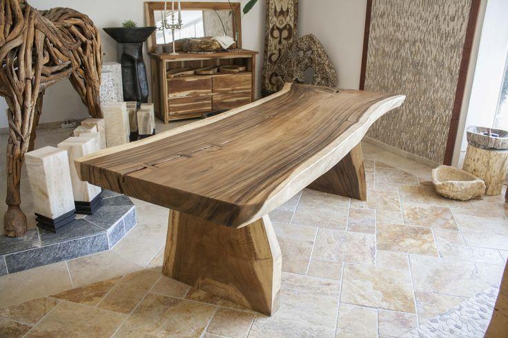"""DER TISCHONKEL :: Tischplatte aus einem Baumstamm """"Suar"""" Länge 260 cm"""