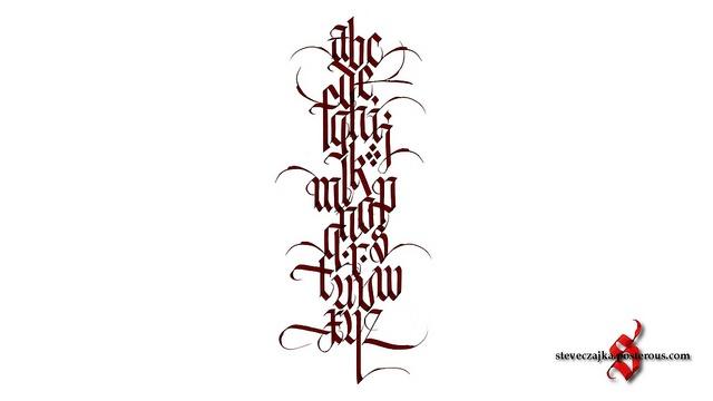 Alphabet - Steve Czajka   Calligraphy   Pinterest