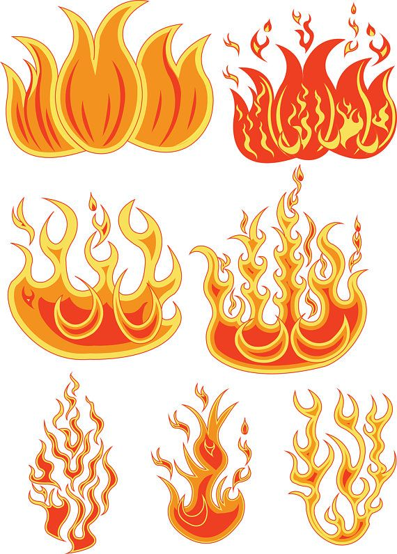 Flame svg. Fire files clipart dxf