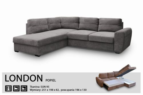 Corner Sofa Bed London Fabric Extra, Best Quality Corner Sofa Bed