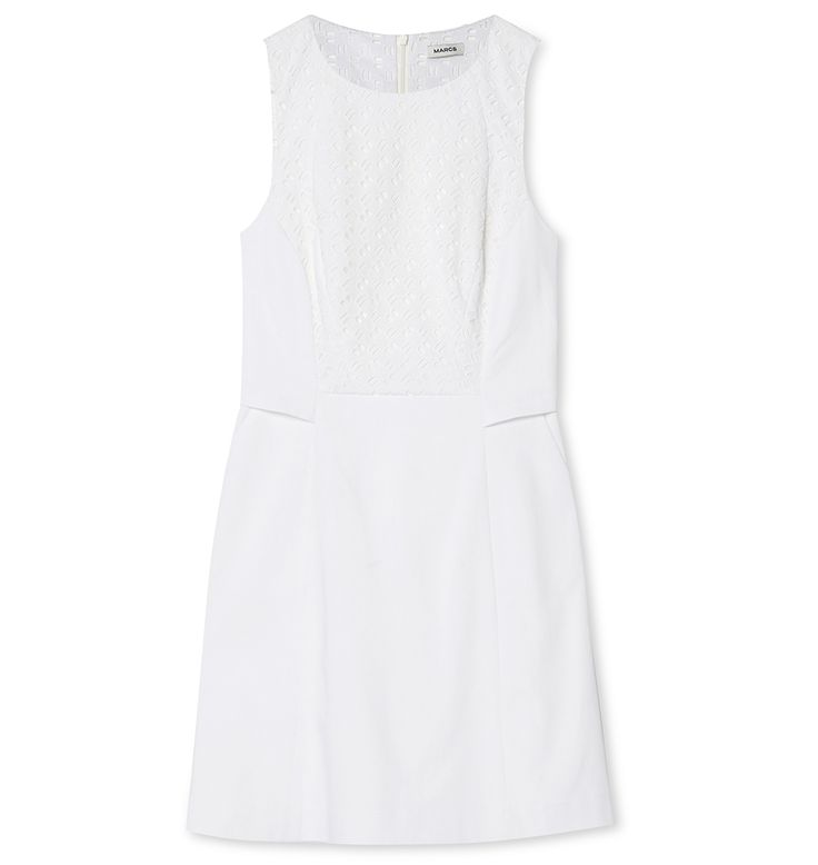 Marcs - COTTON BRODERIE ANGLAISE PANEL DRESS