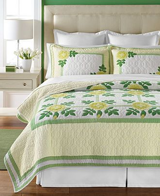 Martha Stewart Collection Flower District Collector's Quilts - Quilts & Bedspreads - Bed & Bath - Macy's