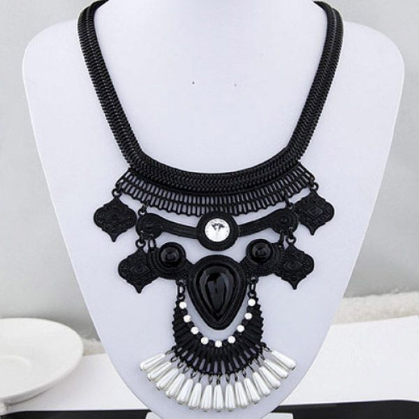 Vintage Black Bohemian Necklace - Majesty Case