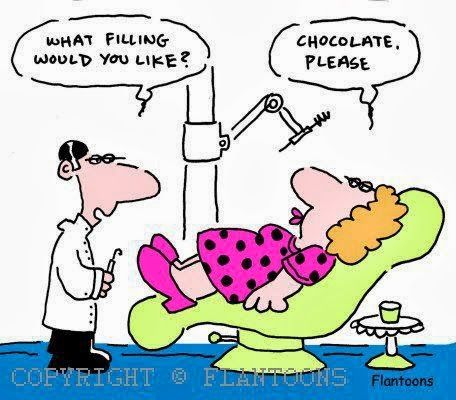 Dentist: What filling would you like? Patient: Chocolate, please.   #Dentist #Dental Humor #Dental Jokes