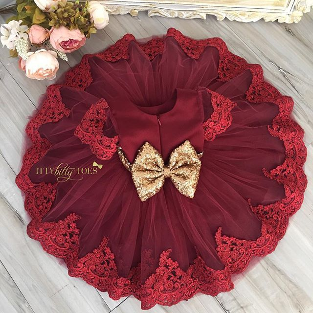 NEW!!! Julia Dress in Burgundy  Sizes: 0-12 years  To order, go to our website: ittybittytoes.com or  1-800-998-3428  Whatsapp: +14242980948 Or chat live with us online!