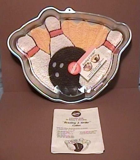 Instructions For  Wilton Bowling A Strike Cake Pan
