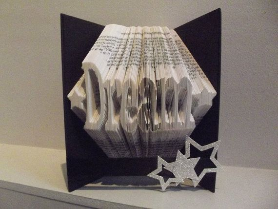Book Folding Pattern for Dream with stars by BookFoldingForever