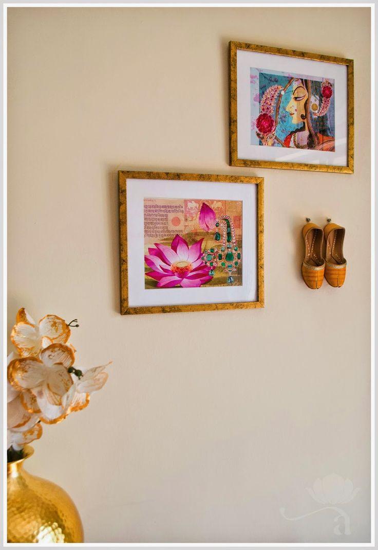 Mix it up - wall art + a cute pair of mojari shoes = unique