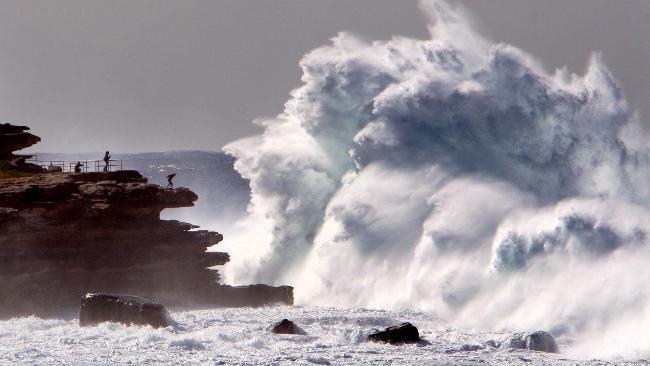 Massive winter storm in Sydney made for big surf.