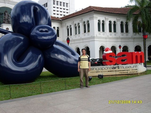 Singapore art museum 2008  Location: 71 Bras Basah Road, Singapore 189555.  After coffee break - afternoon (lunch time)