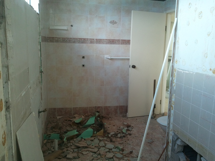 Wall knocked out between Ensuite & Bathroom