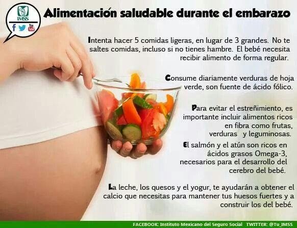 Alimentación saludable durante el embarazo.