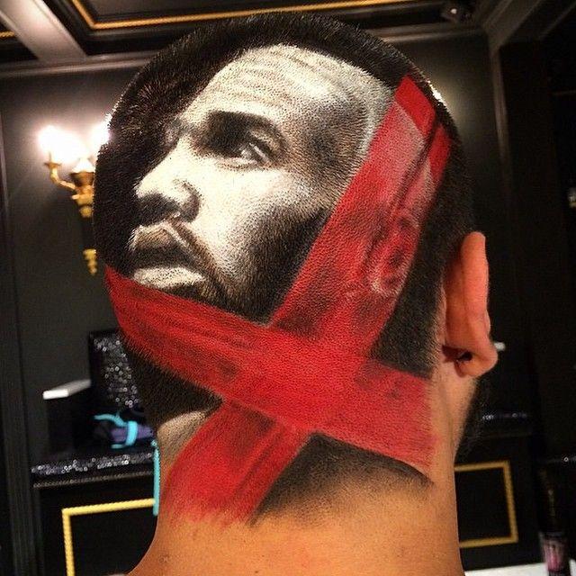 "Chris Brown ""X"" album drawn in the head of a fan. #TeamBreezy"