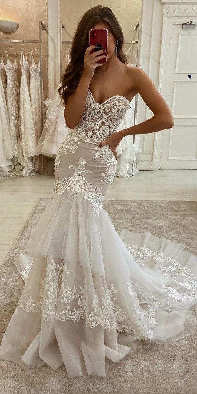 Eleganza Sposa Wedding Dresses 2021 Dream Wedding Dresses Wedding Dresses Lace Wedding Dresses [ 1300 x 650 Pixel ]