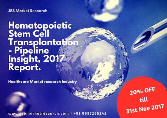 20% Off on Hematopoietic Stem Cell Transplantation-Pipeline Insights, 2017, report provides comprehensive insights of the ongoing therapeutic research and development across Hematopoietic Stem Cell Transplantation.