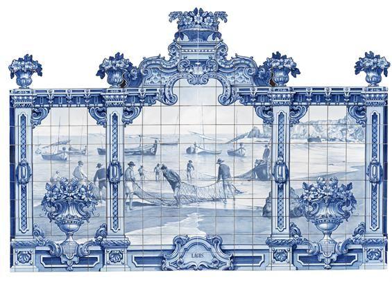 Jorge Colaço | Lagos | Painel de Azulejos / Azulejos panel | 1933 | MNAz Inv. nº 53940 DIG #Azulejo #JorgeColaço #MNAz