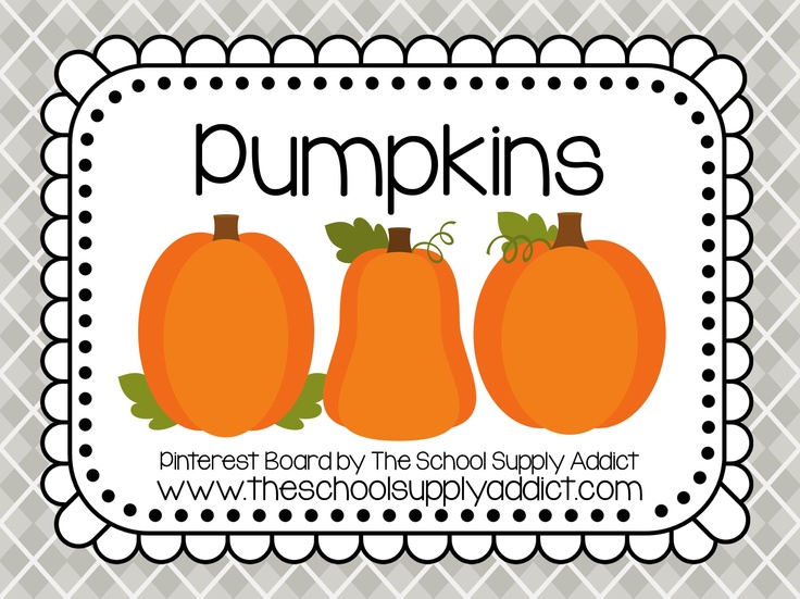 Pumpkin Pin Board by The School Supply Addict