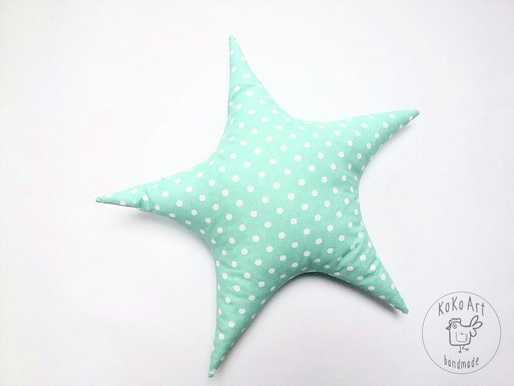 star pillow #pillow #cushion #star #starfish #handmadetoys #handmadedecor #cotton #kokoart