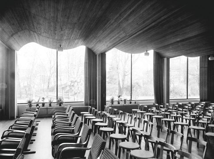 Аалто, библиотека в Выборге, акустическая конструкция (и табуреточки его)