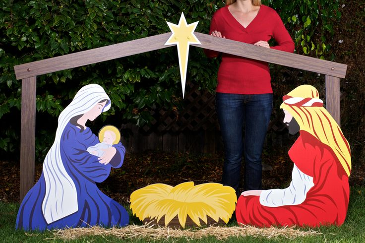 1000 images about nativity scene on pinterest outdoor for Outdoor christmas scenes