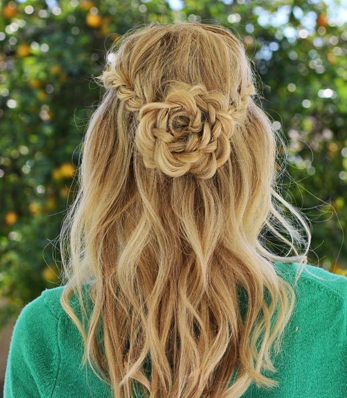 Flower hair up do