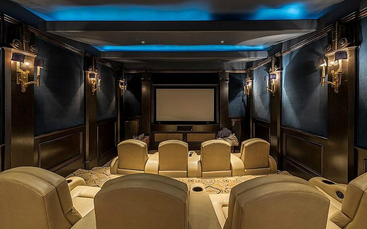 Elegant Home Theater Houston Texas Home Theater Rooms