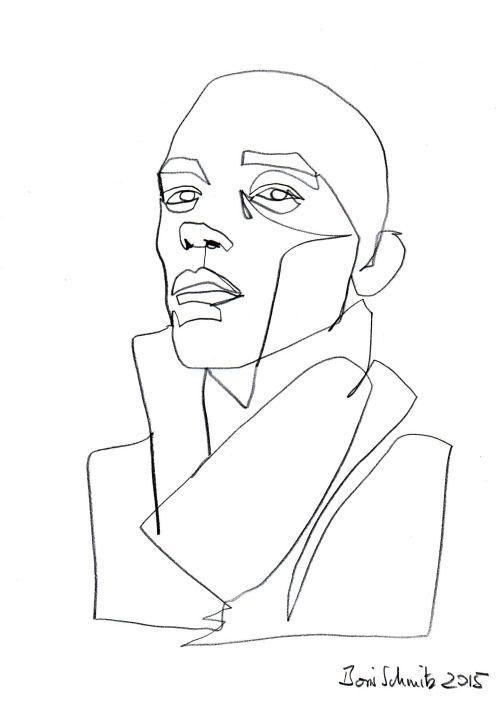 "borisschmitz: ""Gaze 189"", one-continuous-line-drawing by Boris Schmitz, 2015» click here for my portfolio «"