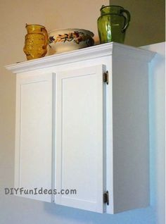 How To Refinish Formica Cabinets   Unique Chalk Paint Recipe | http://diyfunideas.com/how-to-refinish-formica-cabinets-unique-chalk-board-paint-recipe/