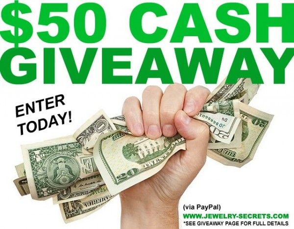 $50 Cash Giveaway by Jewelry Secrets | Sweepstakes and Giveaways