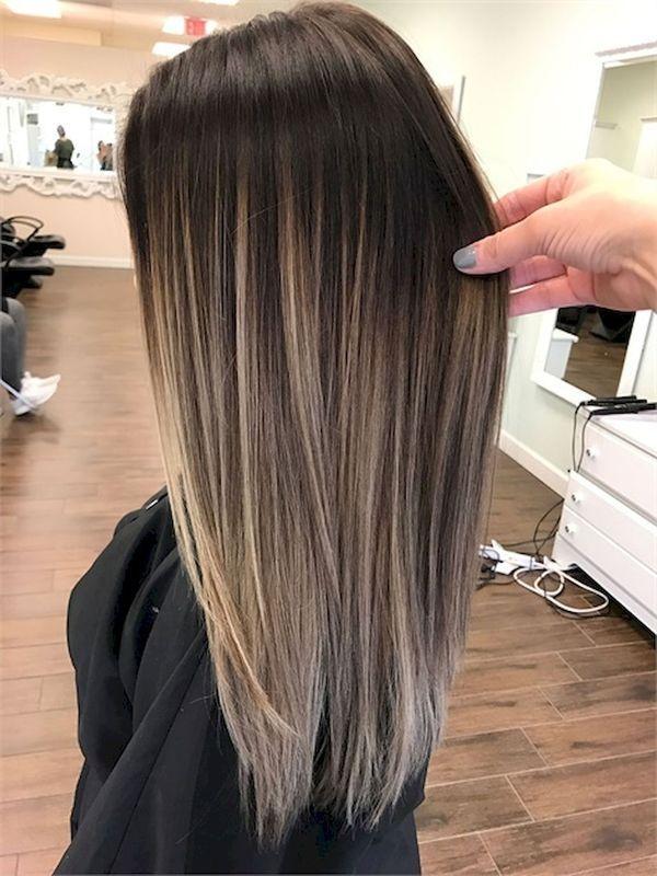 Braune haare balayage blond