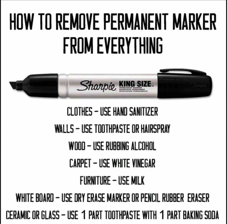 How to remove permanent marker from things - #LifeHack, #Marker, #Stain
