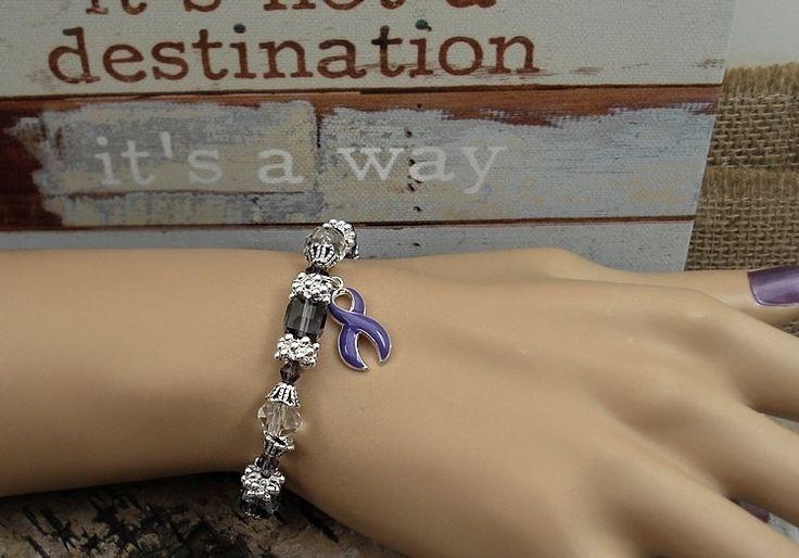 DP-1 Fibromyalgia Bracelet Pancreatic Cancer Awareness Jewelry Chiari Awareness Bracelet Lupus Beaded Bracelet Gift For Her
