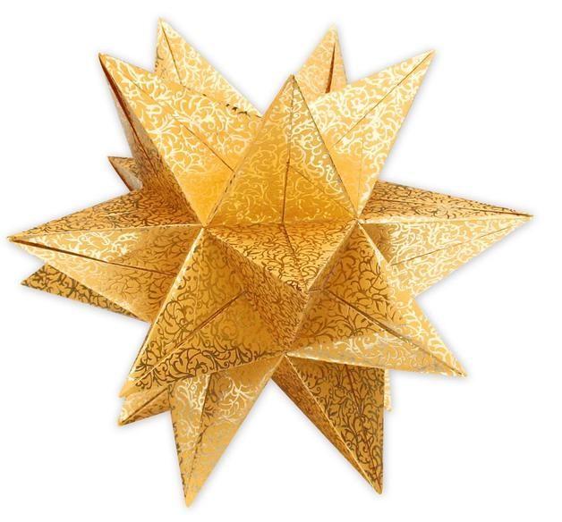 Vintage Faltbl tter Aurelio Stern Spirit x cm g m Blatt gold Die