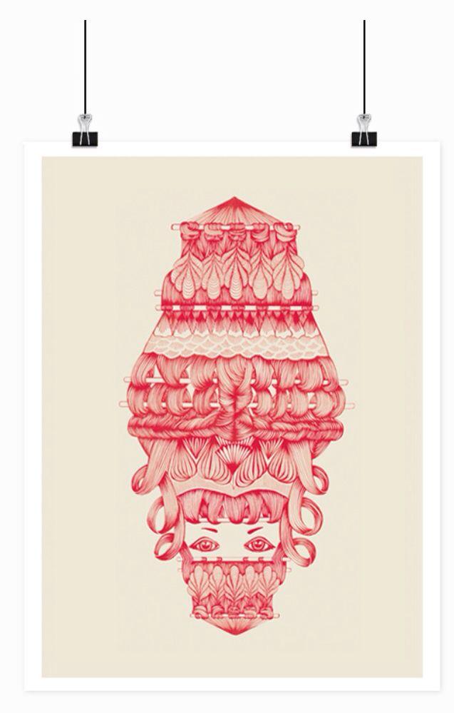 Illustration, 40x50 cm 250,- Limited edition!! #design #art #graphic #drawing #decoration